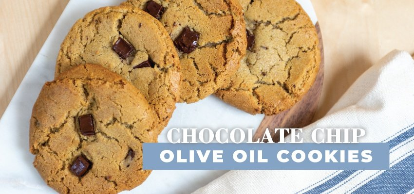 CHOCOLATE CHIP OLIVE OIL COOKIES