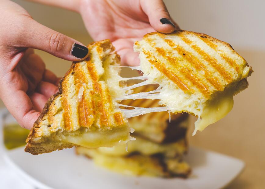 healthy olive oil grilled cheese