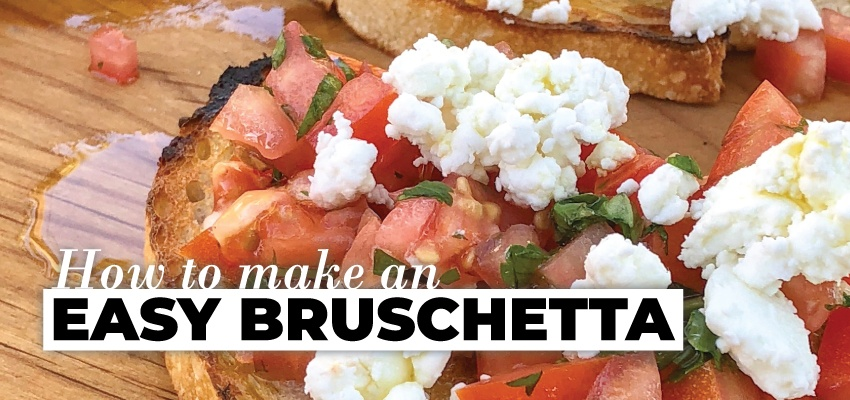 How to Make an easy bruschetta