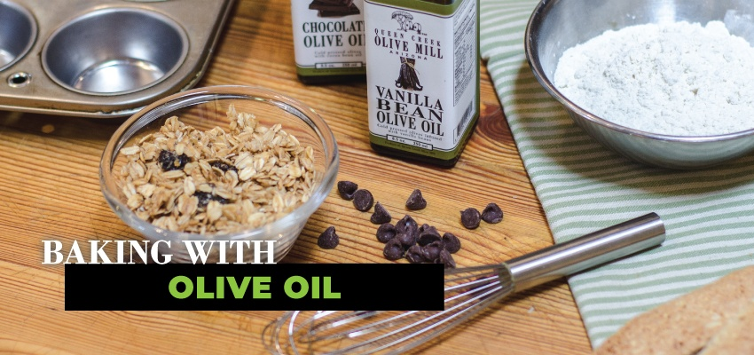 Baking with olive oil